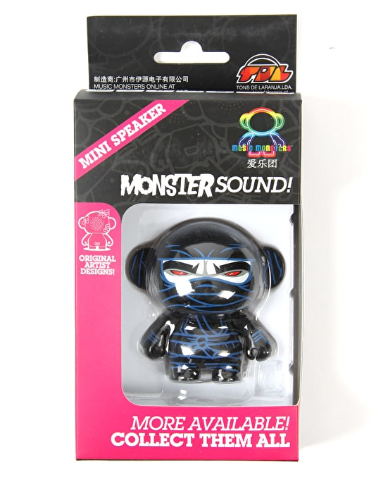 Music Monsters Ninja Black Speakers