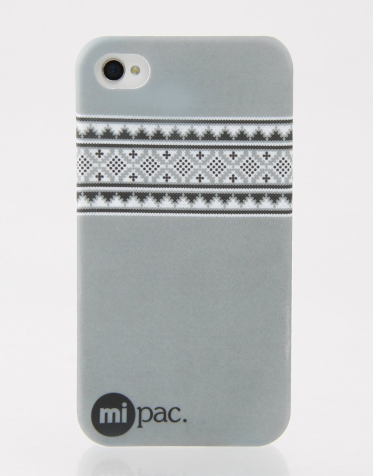 Mi-Pac Nordic iPhone 4/4s Hardcase - Grey