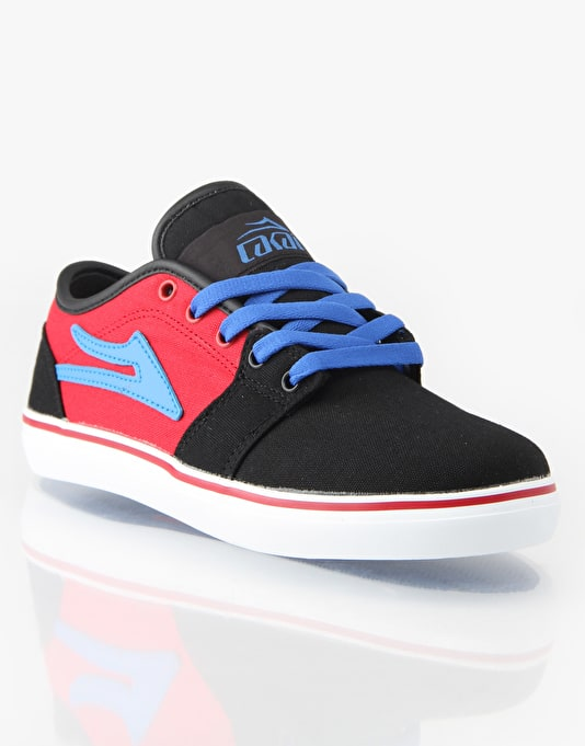Lakai Judo Boys Skate Shoes - Black/Red