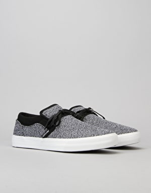 Supra Cuba Skate Shoes - Charcoal Heather/Black/White
