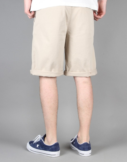 Route One Classic Fit Chino Shorts - Khaki