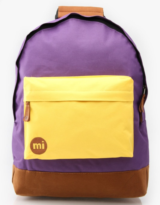 Mi-Pac Tonal Backpack - Purple/Yellow