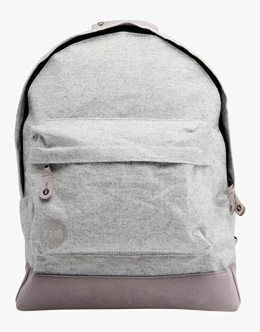 Mi-Pac Herringbone Backpack - Light Grey
