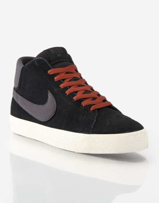 more photos e9979 ddedb Nike SB Blazer Mid LR Skate Shoes - BlackAnthracite  Nike SB  Skate Shoes,  Clothing  Accessories  Route One