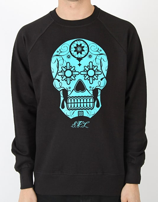 Scarred For Life Calavera Sugar Skull Sweatshirt