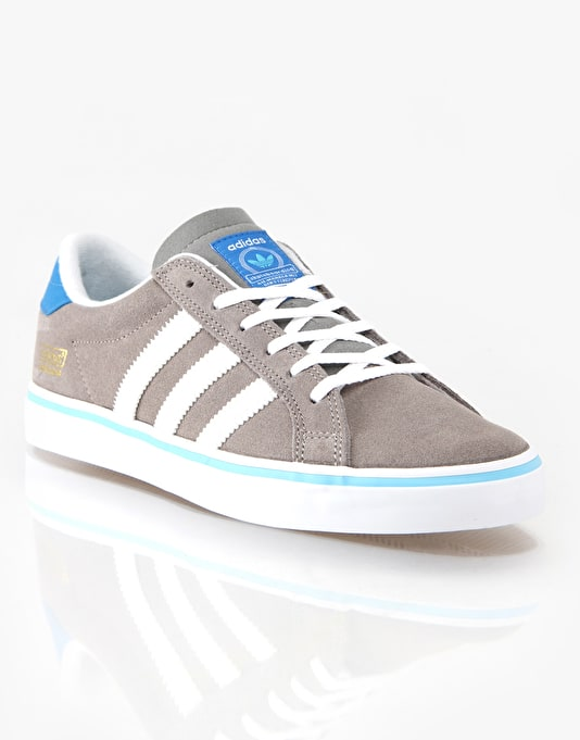 Adidas Americana Vin Skate Shoes - Grey/White/Bluebird