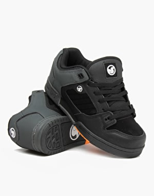 DVS Militia Skate Shoes - Black/Grey Dirt