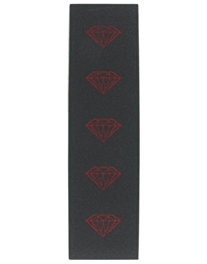 Diamond Brilliant Grip Tape Sheet - Black/Red