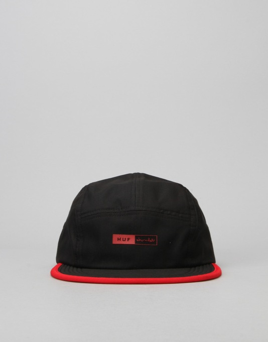 HUF x Chocolate Packable Volley 5-Panel Cap - Black