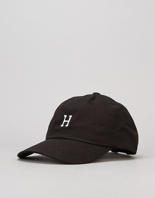 HUF Classic H Curved Brim 6 Panel Cap - Black/White