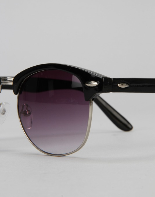 Route One Clubmaster Sunglasses - Black