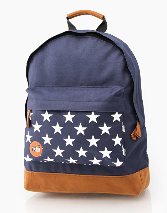Mi-Pac Pocket Print Backpack - Navy/Stars