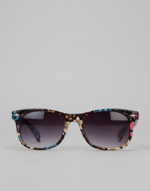 Route One Basics Floral Wayfarer Sunglasses