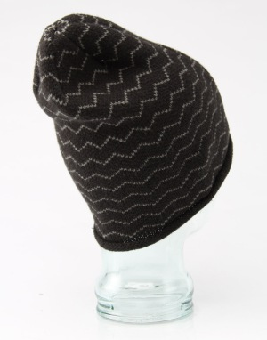Route One Stripey Jack Beanie - Black/Grey