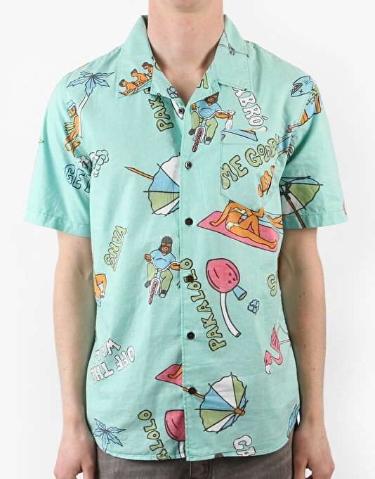 Vans Casual Friday Aloha Shirt - Mint Green