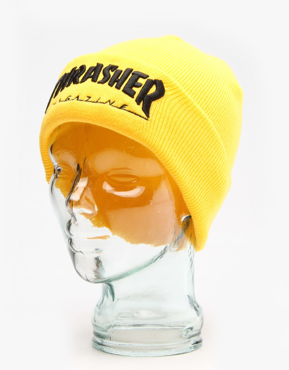 Thrasher Embroidered Logo Beanie - Yellow Black  f4a68068d7e