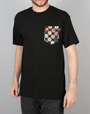 The Quiet Life East West S/S Pocket T-Shirt - Black