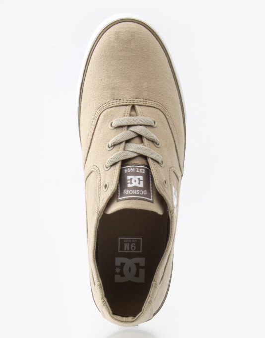 DC Flash TX Skate Shoes - Taupe Stone
