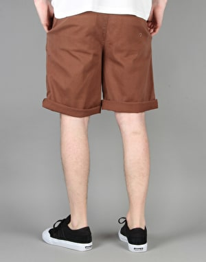 Route One Classic Fit Chino Shorts - Washed Brown