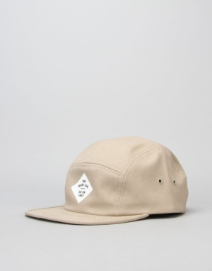 The Quiet Life Traveler 5 Panel Cap - Khaki
