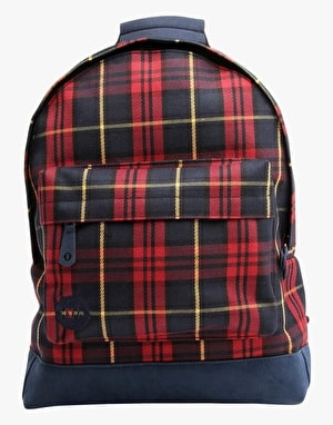 Mi-Pac Tartan Backpack - Burgundy