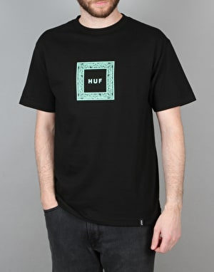 HUF Paisley Box Logo T-Shirt - Black