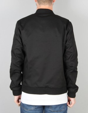 Route One MA-1 Canvas Bomber Jacket - Black