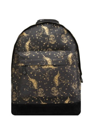 Mi-Pac Unicorns Backpack - Black/Gold