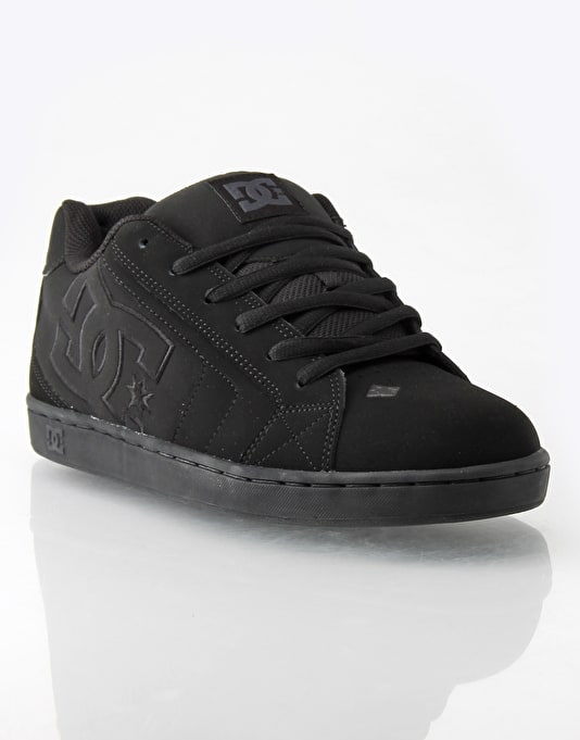 DC Net Skate Shoes - Black/Black