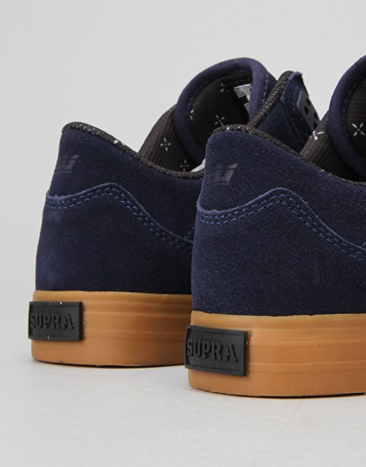 Supra Ellington Vulc Skate Shoes - Navy/Gum