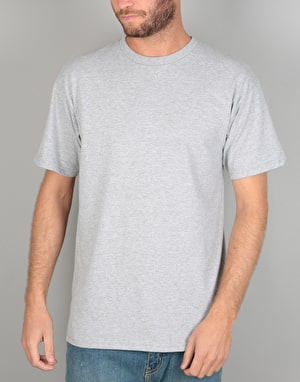 Brixton Merced S/S T-Shirt - Heather Grey