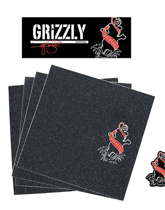 "Grizzly Sheckler Inked Pro 9"" Grip Tape Sheet"