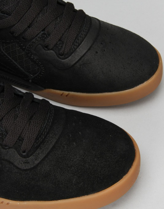 Supra Avex Skate Shoes - Black/Gum