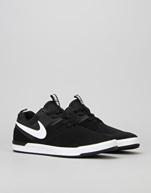 Nike SB Air Zoom Ejecta Skate Shoes - Black/White