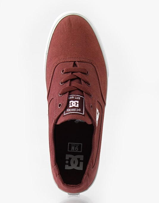 DC Flash TX Skate Shoes - Maroon