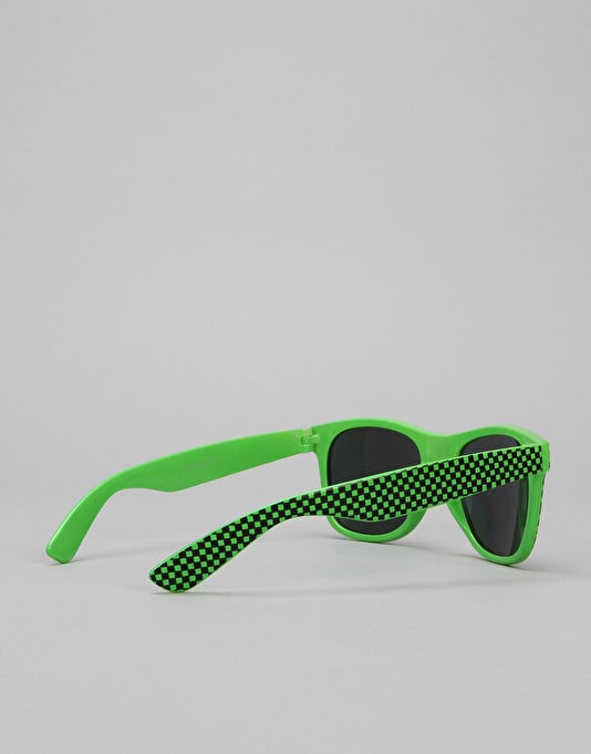 Route One Check Wayfarer Sunglasses - Green/Black
