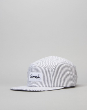 Diamond Supply Co. Monte Carlo 5 Panel Cap - White/Blue