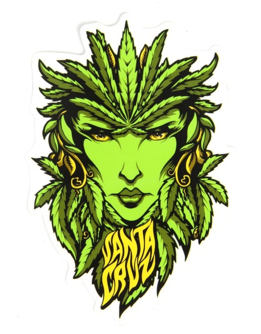Santa Cruz Weed Goddess Sticker