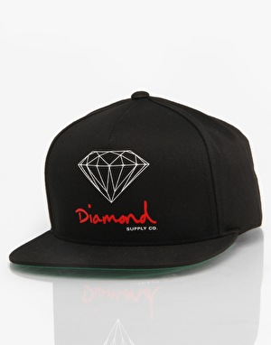Diamond OG Sign Snapback Cap - Black