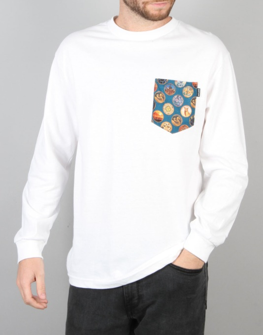 The Quiet Life East West L/S Pocket T-Shirt - White