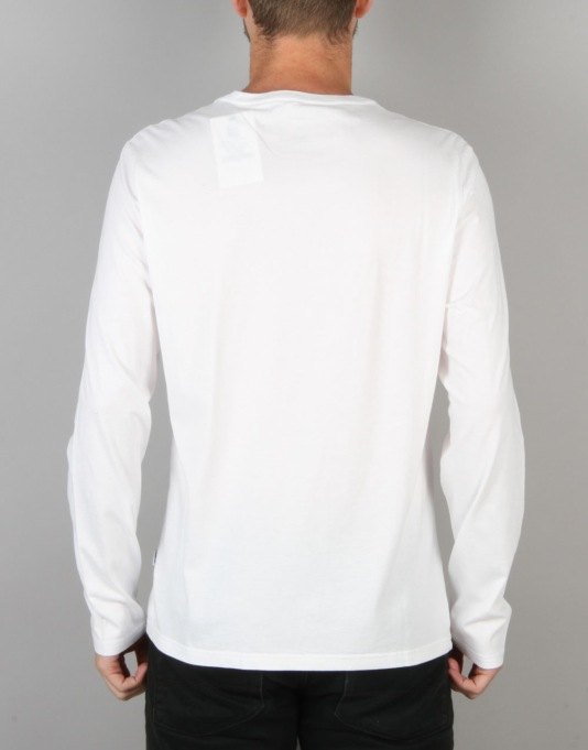 Converse Core Left Chest CP L/S T-Shirt - White