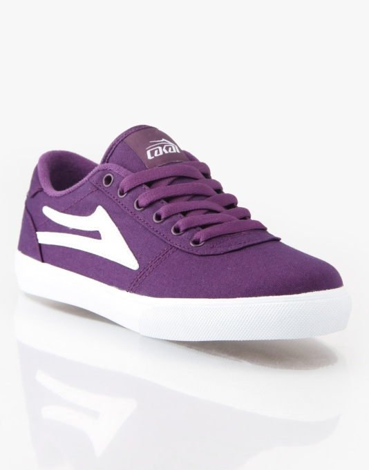 Lakai Manchester Canvas Boys Skate Shoes - Purple
