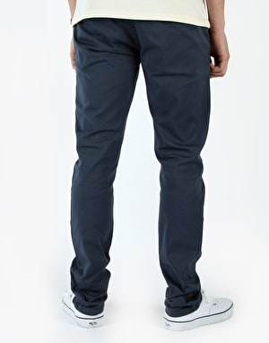 Route One Slim Fit Chinos - Washed Navy