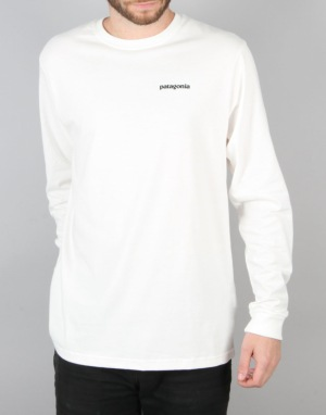 Patagonia L/S Fitz Roy Trout T-Shirt - White