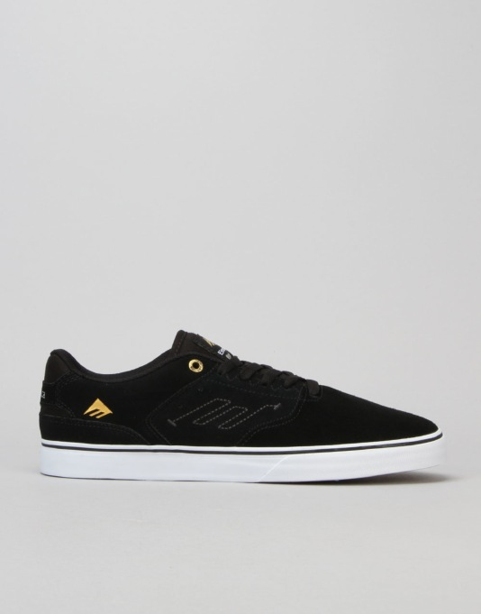 Emerica The Reynolds Low Vulc Skate Shoes - Black/White