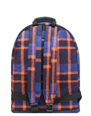 Mi-Pac Picnic Check Backpack - Navy/Orange