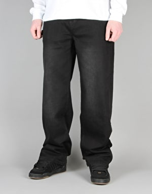 Route One Baggy Denim Jeans - Black