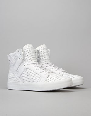 Supra Skytop HF Skate Shoes - White/White