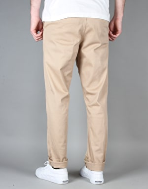 Route One Carrot Fit Chinos - Khaki