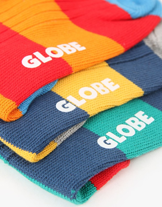 Globe Fat Stripe Boots Deluxe Socks - 3 Pack